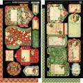 Набор высечек Twelve Days of Christmas Tags and Pockets, Graphic 45, 4500737