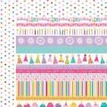 Бумага Borders, Birthday Girl, 30 х 30 см, Bella BLVD, 457