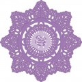 Нож Prima Marketing - Purple Metal-Crochet Doily - 9,5 см