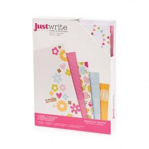 Заготовки для открыток с конвертами Just Write,12шт, Daydreams, 64013