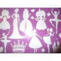 Трафарет пластиковый, 26.5 х 19 см для маленькой Принцессы