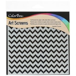 Трафарет ColorBox Art Screen – Chevrons, ClearSnap, 85000