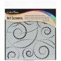 Трафарет ColorBox Art Screen - Swirl Dot, ClearSnap, 85004