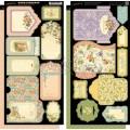 Набор высечек Secret Garden Tags and Pockets, Graphic 45, 4500665