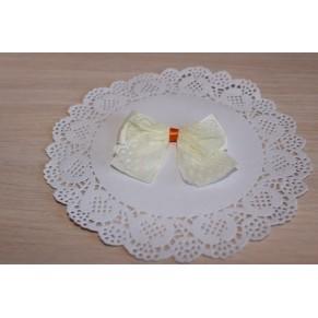 Декор Бантик c кружевом, молочный, Китай, B4502