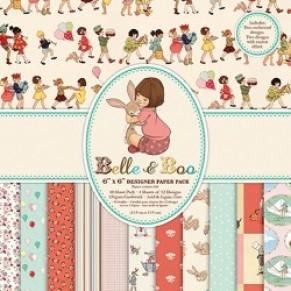 Набор бумаги Belle and Boo, 15×15 см, 12 листов, Belle and Boo, BBDP003 купить