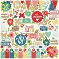 Наклейки Beautiful Life Element Stickers, 30х30 см, Echo Park, BF50014