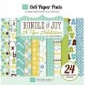 Набор бумаги Bundle of Joy New Addition Boy, 15х15см, 12 листов, Echo Park, BJBT78023