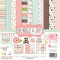 Набор бумаги Bundle of Joy Girl, 12 листов и 2 листа наклеек, 30х30 см, Echo Park, BJG45016