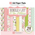 Набор бумаги Bundle of Joy New Addition Girl, 15х15см, Echo Park, BJGT79023