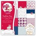 Набор бумаги Festive Fun, 15х15 см, 12 листов, Fizzy Moon, BN0116