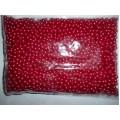 Набор бусин, цвет красный, 100 шт, BP874501