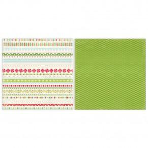 Лист картона Merry Borders, Merry and  Bright, 30х30 см, Carta Bella, CB-MB5005