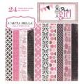 Набор картона Paris Girl, 15х15 см, 12 листов, Carta Bella, CB-PG