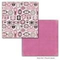 Лист картона French Labels, Paris Girl, 30х30 см, Carta Bella, CB-PG12