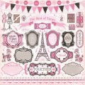 Лист наклеек Elements Sticker Sheet, Paris Girl, 30х30 см, Carta Bella, CB-PG13