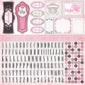 Лист наклеек Alpha Sticker Sheet, Paris Girl, 30х30 см, Carta Bella, CB-PG14