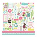 Наклейки True Friends Element Stickers, 30х30 см, Carta Bella, CB-TF10011
