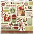Наклейки Christmas Day Element Stickers, Echo Park, CBCD6011