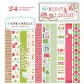 Набор бумаги  Merry and Bright, 15х15 см, 12 листов, Carta Bella, CBMB5014