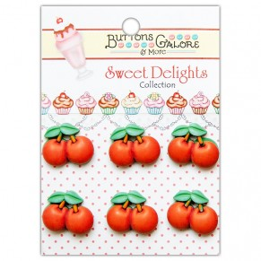 Набор пуговиц Cherries Jubilee, Buttons Galore, CD106