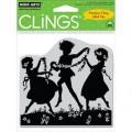 Резиновый штамп DANCING WITH FLOWERS, Hero Arts, CG266-85