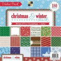 Набор бумаги Christmas and Winter Stack, 30х30 см, 60 листов, DCWV, CP-002-00932