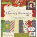 Набор бумаги Heirloom Christmas, 30х30 см, 24 листа, DCWV, CP-002-00976