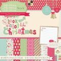 Набор бумаги Jolly Whimsy, 30х30 см, 24 листа, DCWV, CP-012-00467