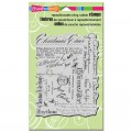 Резиновый штамп Christmas Background, Stampendous, CRR144