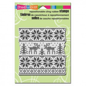 Штамп резиновый Sweater Square, Stampendous, CRW101