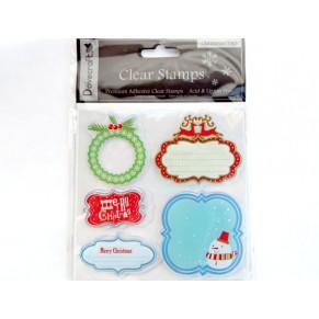 Акриловые штампы Christmas Stamps, Dovecraft, 5 шт