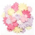 Набор бумажных цветов  Back to Basics III Blossoms, 30 шт, DCBL005