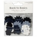 Набор бумажных цветов Back to Basics Monochrome Blossoms, Dovecraft, DCBL010