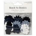 Набор бумажных цветов Back to Basics Monochrome Blossoms, Dovecraft, DCBL010