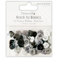 Пуговицы Back to Basics Monochrome, Dovecraft, DCBN008