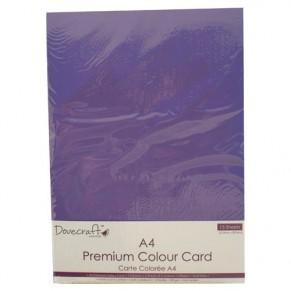 Набор цветного картона, 15 листов, 5 цветов, Dovecraft, DCBS75