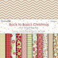 Набор бумаги Back To Basics Christmas Modern, 20 х 20 см, 12 листов, Dovecraft, DCDG002