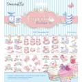 Набор бумаги для 3D Декупажа Cupcake Boutique, 20х20 см, 8 листов, Dovecraft, DCDG004