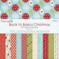Набор бумаги Back To Basics Christmas Modern, 15 х 15 см, 12 листов, Dovecraft, DCDG00445