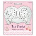 Салфетки ажурные Tea Party Paper Lace Hearts, Dovecraft, DCDO002