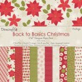 Набор бумаги Back To Basics Christmas Vintage, 15х15 см, 12 листов, Dovecraft, DCDP1222