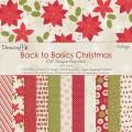 Набор бумаги Back To Basics Christmas Vintage, 15х15 см, 12 листов, Dovecraft, DCDP1222
