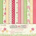 Набор бумаги Garden Party, 20×20 см, 12 листов, Dovecraft, DCDP127
