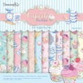 Набор бумаги Cupcake Boutique 20х20см, 12 листов, Dovecraft, DCDP133