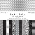 Набор бумаги Back to Basics Monochrome, 30×30 см, 12 листов, Dovecraft, DCDP136