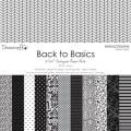 Набор бумаги Back to Basics Monochrome, 30×30 см, 12 листов, Dovecraft, DCDP136