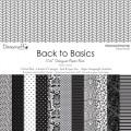 Набор бумаги Back to Basics Monochrome, 15×15 см, 12 листов, Dovecraft, DCDP138