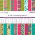 Набор бумаги Crowning Affair Value Pack, 15×15 см, Dovecraft, DCDP167
