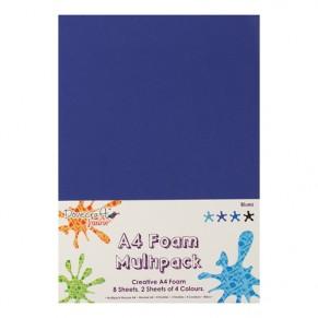 Фоамиран Blues Multiple Pack, A4, Dovecraft, DCFM002